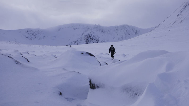 Adventure Beauty In Nature Cairngorms Challenge Climbing Cold Cold Temperature Early Morning Freezing Frozen Ice Landscape Mountain Mountain Range Mountaineers Nature One Person Outdoors People Rock Scenics Sky Snow Walking Winter