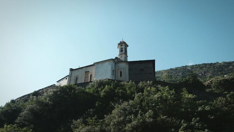 Sondrio Valtellina Church Valley My Land Mountains Alps On The Train Kodachrome Fujifilm