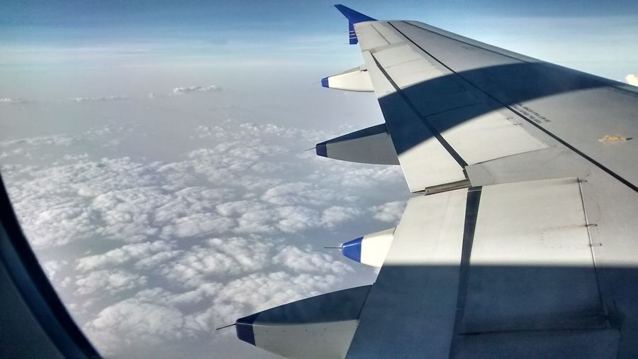Aerial View Air Vehicle Aircraft Wing Airplane Airplane Wing Cloud - Sky Cloudscape Day Flying No People Scenics Sky