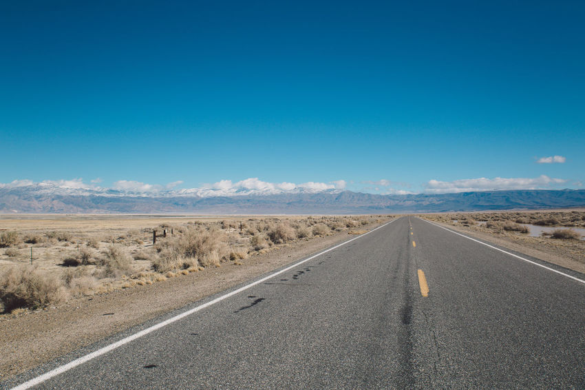 Arid Climate Beauty In Nature Blue Blue Sky CA-190 Coso Day Death Valley Desert Landscape Mountains Nature Nature No People Olancha Outdoors Road Road Roadtrip Scenics Sky The Way Forward Tranquil Scene Tranquility Transportation