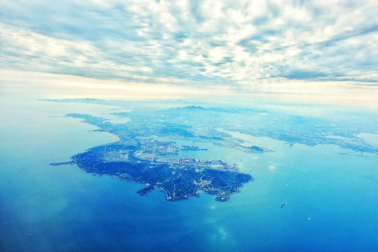 China Photos Qingdao Landscape Clouds And Sky Cityscapes Cloudpark Light And Shadow Travel Edge Of The World Streamzoofamily From An Airplane Window