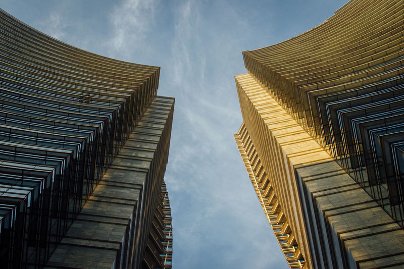 Skyscapers in Milan, Italy Architecture Architecturelovers Architectureporn Building Exterior Day Low Angle View Milan Milano No People Outdoors Porta Nuova Sky Skyscraper Skyscrapers Unicredit Tower The Architect - 2017 EyeEm Awards