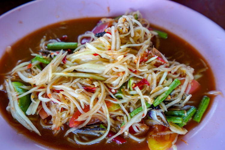 spicy papaya salad Spicy Papaya Salad Thai Food
