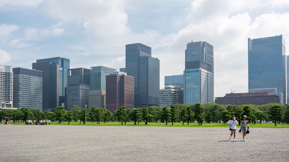 The view from Tokyo's Imperial Palace Architecture Building Built Structure City City Life Day Financial District  Gardens Imperial Palace Modern Nippon Photography Office Building Outdoors Skyscraper Tall Tall - High Tokyo Station Tokyo,Japan Tourist Tower