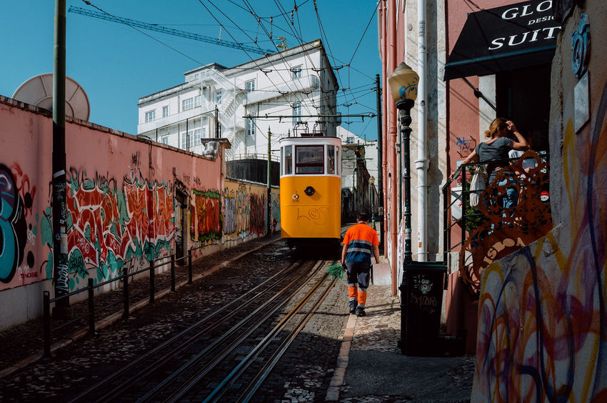 Portugal Street View Architecture Atmospheric Mood Built Structure Colorful Day Decayed Beauty Decaying Building Graffiti Art Heat Heat - Temperature Lisbon Old Scenery Southern Street Streetphotography Sun Urban The Street Photographer - 2018 EyeEm Awards