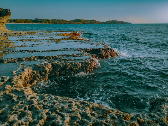 Like rocks in the shore, we are formed. No matter how hard we are hit by the waves. The Great Outdoors - 2019 EyeEm Awards UnderSea Water Sea Life Sea Wave Underwater Beach Sky Horizon Over Water Landscape Seascape Coastline Ocean Shore Coastal Feature Low Tide Rocky Coastline
