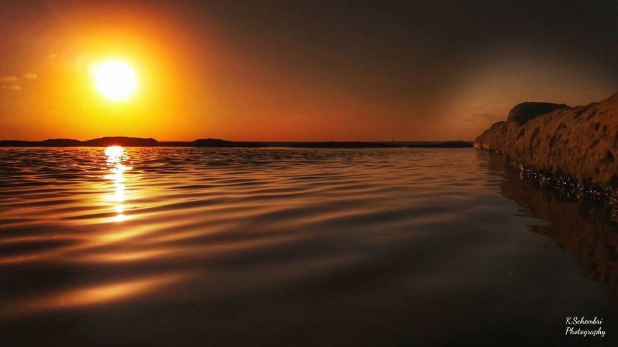 Sunset Sea Water Beauty In Nature Scenics Tranquility Sun Reflection Sky Idyllic Horizon Over Water Sunlight Tranquil Scene EyeEmNewHere