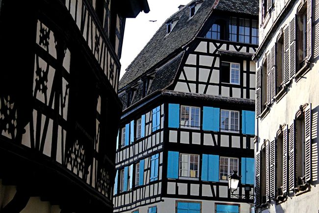 Alsace Architecture Built Structure City France German Style Strasbourg Street