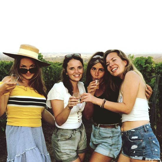 Friendship Portrait Togetherness Cheerful Smiling Happiness Youth Culture Young Women Group Of People Party - Social Event