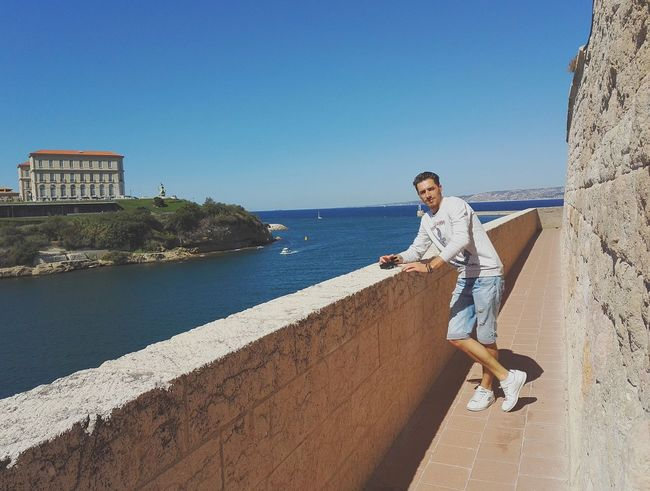 Marseille. An Eye For Travel One Man Only Only Men One Person Sky Adults Only Adult Clear Sky Vacations Day Young Adult Outdoors Blue Men Young Men One Young Man Only Nature Water Wireless Technology Full Length People Summer Road Tripping