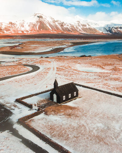 Took 6 days and drone around Iceland and stopping at every church because they are so beautiful. Iceland Iceland Memories Beauty In Nature Cloud - Sky Cold Temperature Day Iceland Trip Iceland_collection Icelandic Idyllic Moody Mountain Nature No People Non-urban Scene Outdoors Scenics - Nature Sea Sky Snow Snowcapped Mountain Tranquil Scene Tranquility Water Winter