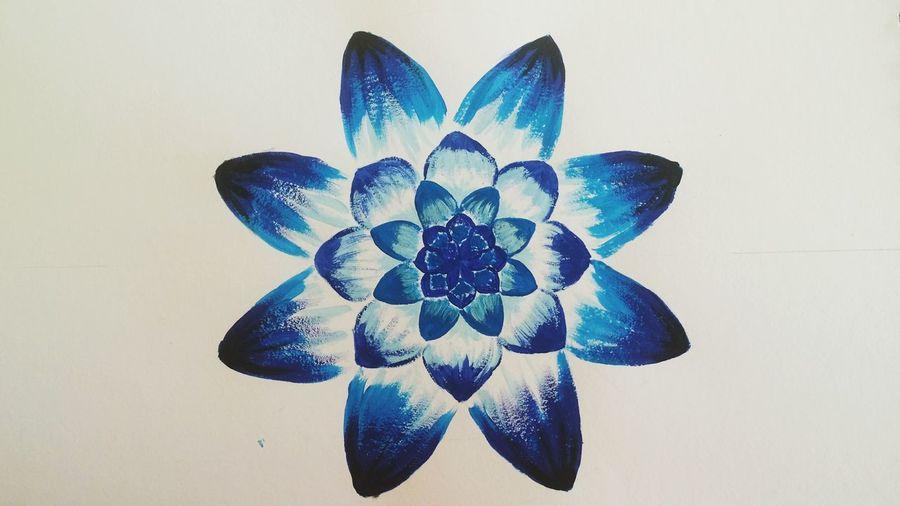 EyeEm Selects Architecture Scenics Blue No People Freshness Mandala Mandala Art Flower Painting Painted Image
