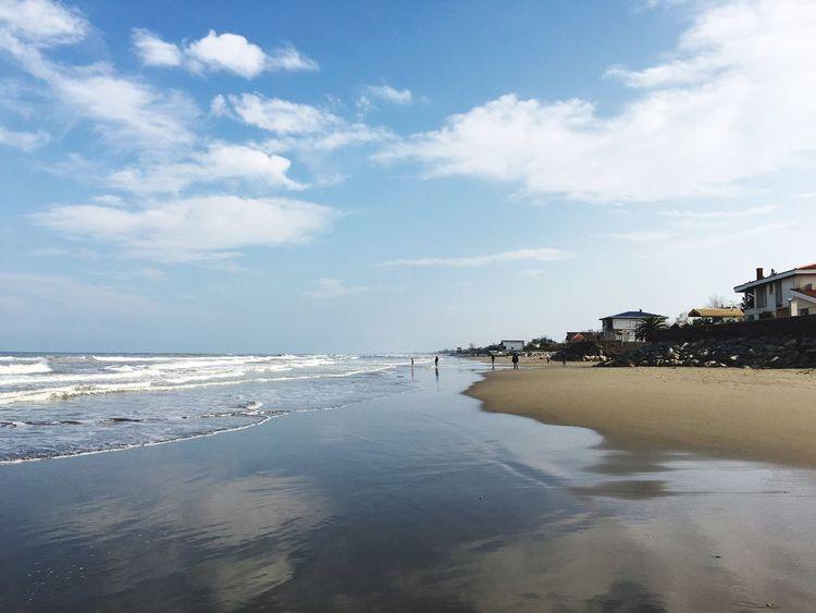 Beach Beach Sea Water Sand Blue Blue Sky
