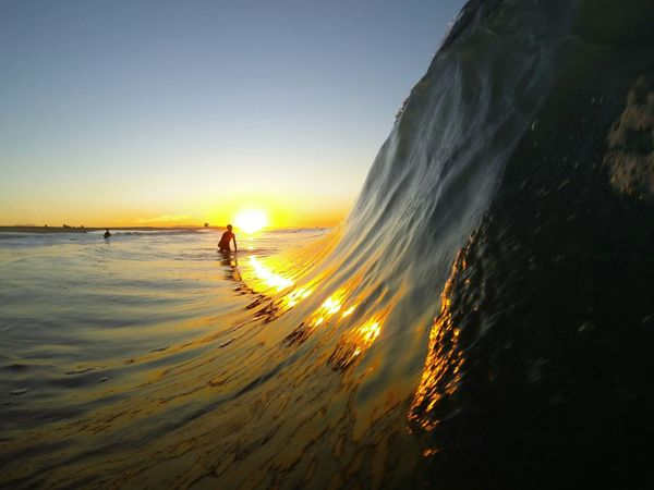 The Human Condition Blessed  The Pursuit Of Happiness Silhouette Reflection Sunrise Eat Sleep Surf EyeEm_crew Tadaa Community Bodysurfing