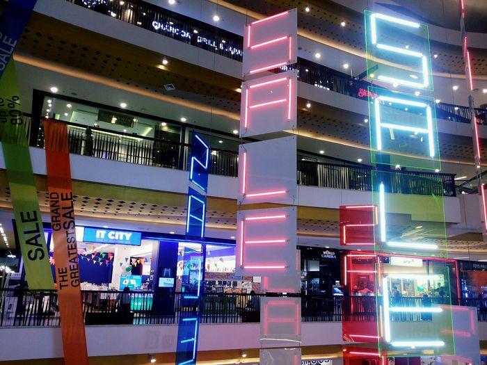 Central Festival Chiangmai Thailand Eyeemthailand Neon Lights Sale Enjoying Life
