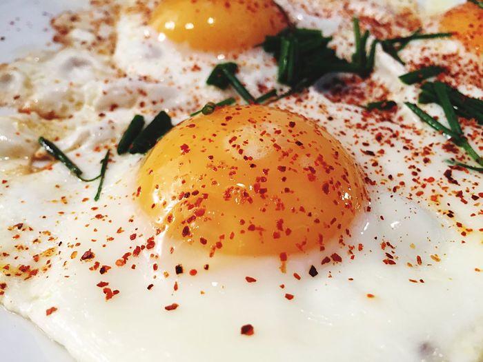 Close-Up Of Sunny Side Up Egg