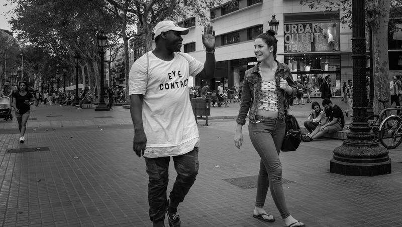 Barcelona Black And White City Life Day And Night Fuji Xt2 Night And Day People Street Photography