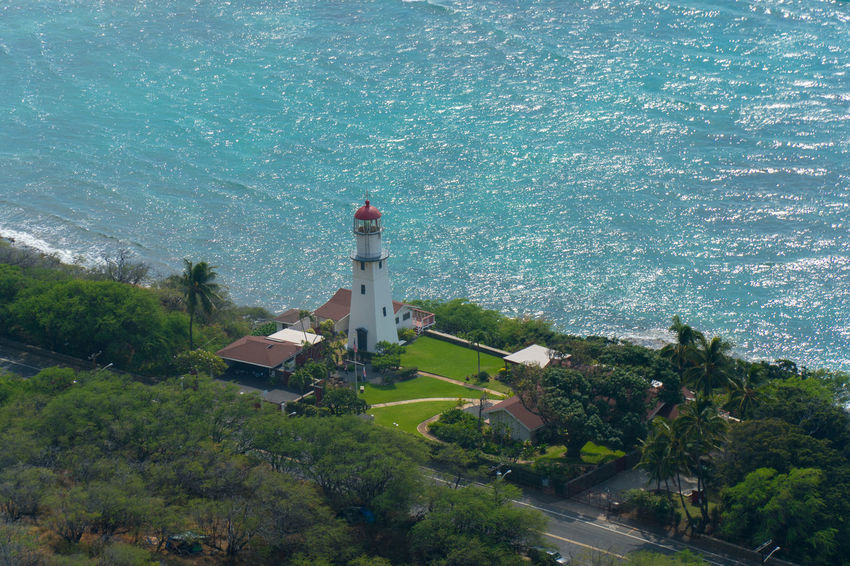 Diamond Head Lighthouse From  Diamond Head Lookout .... Honolulu, Hawaii Lighthouse Building Exterior Travel Destinations No People Built Structure Beauty In Nature Architecture Landscape Travel Outdoors EyeEmNewHere First Eyeem Photo Adapted To The City EyeEm Best Edits EyeEm Best Shots Sony A6300 Vacations Tranquility Tower Beach Flying High