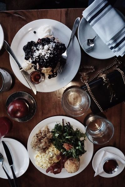 Lovely brunch💕 Food And Drink Table Food Freshness Eating Utensil Ready-to-eat Kitchen Utensil Plate Indoors  High Angle View Fork Serving Size Meal Still Life Directly Above Household Equipment No People Knife Spoon Glass Torontophotographer Toronto Fashion Lifestyles