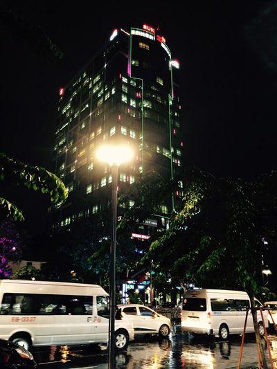 First Eyeem Photo Rainy Days Lighting Equipment Light Ho Chi Minh City NguyenHue Street Nguyenhuewalkingstreet
