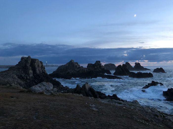 Ouessant - Eusa Yanntiersen Ouessant Water Sea Sky Beach Land Cloud - Sky Rock Beauty In Nature No People Rock Formation Nature
