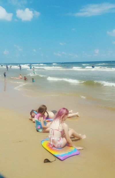 Beach Sea Sand Full Length Summer Girls Vacations Water Child People Bikini Children Only Teenager Two People Friendship Shirtless Togetherness Horizon Over Water Adult Day Popular Photos Surfside Tx Outdoors Soft Focus Wave Sommergefühle EyeEm Selects