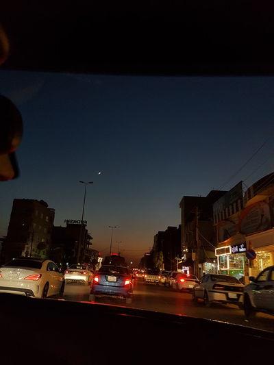 Outdoors Night Car City Sky Building Exterior Cloud - Sky Kurd Beauty In Nature Kurdistan Nature Moon