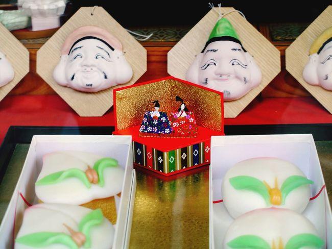 "Nasagaki Style Hinamatsuri Dessert : ""Momo Castella sponge Cake ( 桃カステラ )"" Show Windows 和華蘭(Nagasaki Culture)"