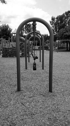 Symmetry Swings Taking Photos Enjoying Life Monochrome For The Love Of Black And White Shades Of Grey Playground Park Swingset