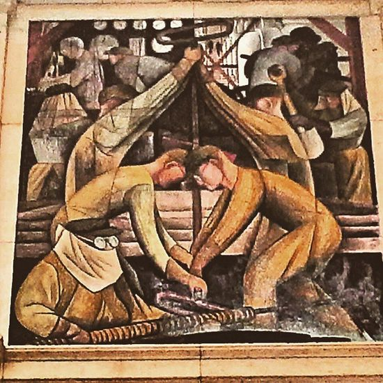 Not Just The Origin Of A Manufactured Item, Possibly Also L'Origine du Monde No es sólo el origen de un artículo fabricado, posiblemente también L'Origine du Monde YoniesYoniesEverywhere Creation Diegorivera DetroitIndustry mural