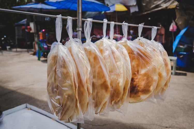 Thai roasted crisp rice, khao kriap wow