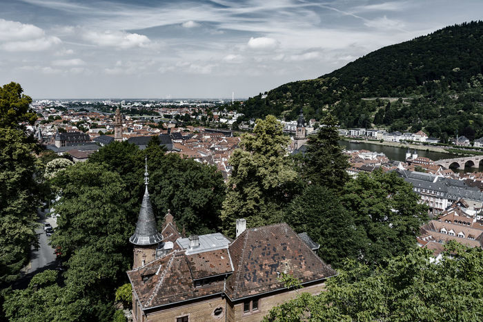 Old town Architecture Building Exterior Built Structure Church Towers City Cityscape Cloud - Sky Cultures Day High Angle View House Landscape No People Outdoors Place Of Worship Religion River Neckar Scenics Sky Travel Travel Destinations Tree