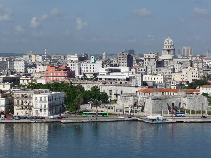 Havana skyline, Cuba Architecture Building Exterior Buildings Built Structure City City Cityscape Cloud - Sky Cuba Cuba Skyline Day Havana Nature No People Outdoors Sky Skyline Water Waterfront