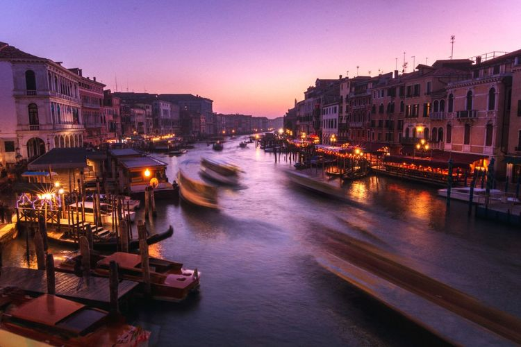 Venice grand canal busy evening The Week on EyeEm Editor's Picks EyeEm Selects EyeEm Best Shots Italy Holiday Travel Evening Life Venice Night Life In Venice Long Exposure Grand Canal - Venice City Cityscape Urban Skyline Water Illuminated Sunset Dusk Sky Architecture Boat Historic
