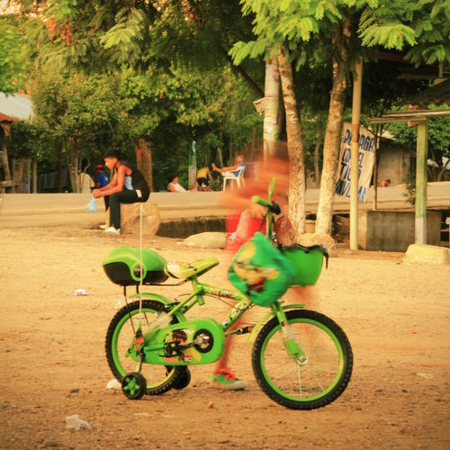 #AfroLatina #Colombia #bicycle #childhood #colorful #green #townscape #tropical Bicycle Day Real People