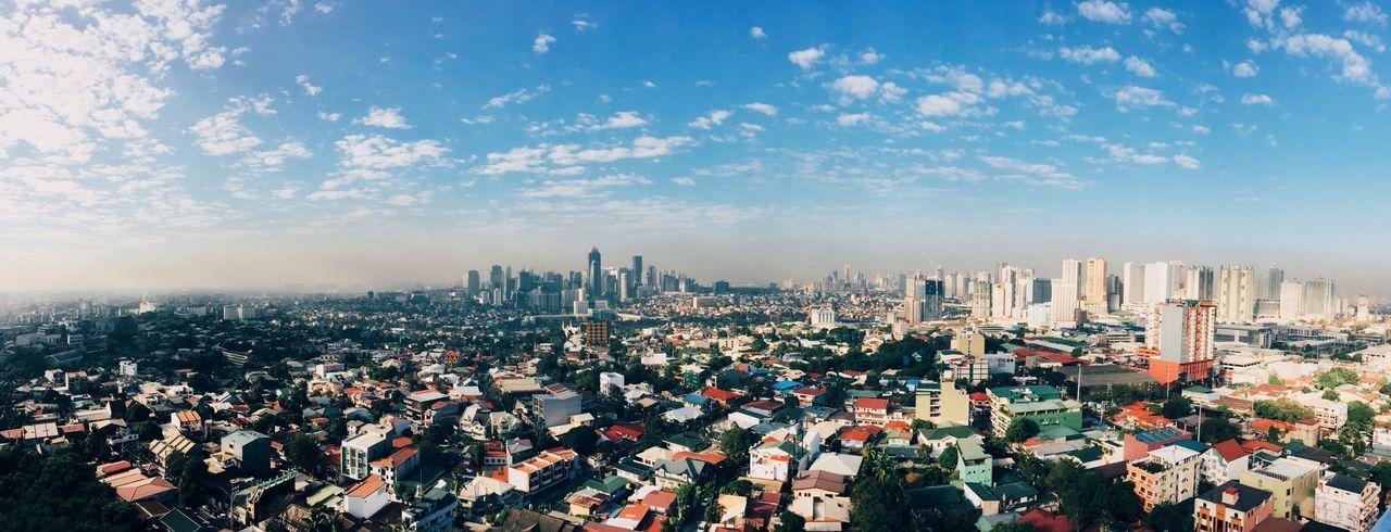 Cityscape against the sky