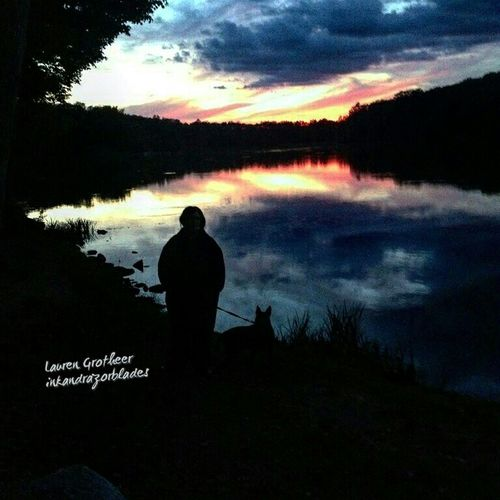 Thst's Me Puppy Silhouette Sunset Sunset Silhouettes Pretty Colors Landscape Gorgeous Fall Colors