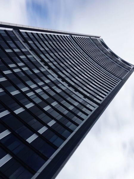 Smooth exposure Sky Built Structure Building Exterior Cloud - Sky Building Low Angle View Office Building Exterior Skyscraper Office Day Tall - High Glass - Material Window First Eyeem Photo