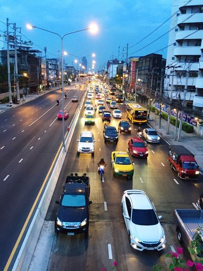 Transportation Street Traffic City Road City Life Outdoors Bus Mode Of Transport Evening Daokhanong Bangkok Bangkok Thailand. Car City Street Life Life In Motion Lifestyle Photography