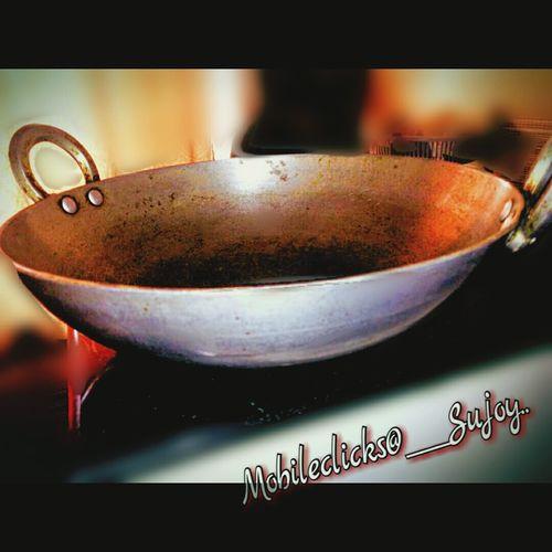 Kadai, the indian kitchen utensil.. Kadai Kitchen Utensil Abstract Photography