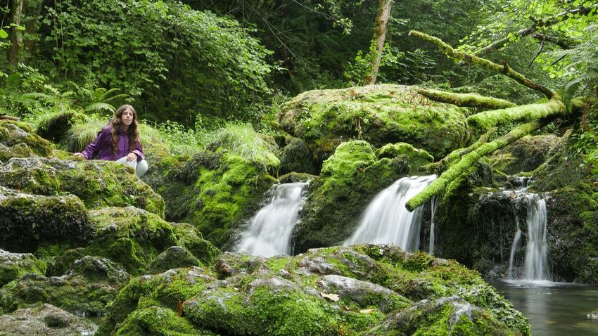 Musk Asturias Waterfall Water_collection Green Panasonic Lx100 Waterfall_collection Girl Jungle Long Exposure