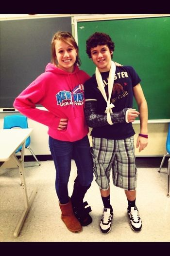 When me and nick were cripples together!!!