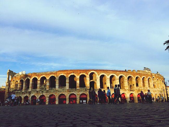 Arena Arenadiverona Verona Italy Art Urban IPhoneography Sunset Clouds And Sky