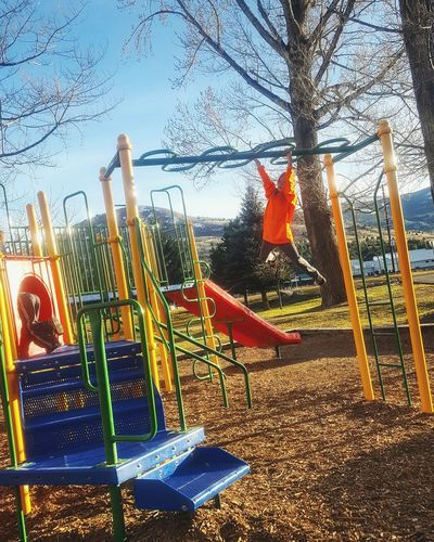Hanging Out Check This Out Hello World Enjoying Life Letthembelittle Having A Good Time Playground Monkeybars Playingatthepark Enjoying Life Aprilphotochallenge April 2016 Having Fun Playground Equipment Mylittle Swinging Stronggirl Bright Colors Mountainsinthedistance Trees And Sky GrowingUp Kids Playing Capturing Movement Kids At Play Capturing Motion