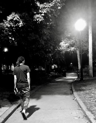 Black And White One Person Plant Tree Real People Nature City Shadow Street Men HUAWEI Photo Award: After Dark HUAWEI Photo Award: After Dark