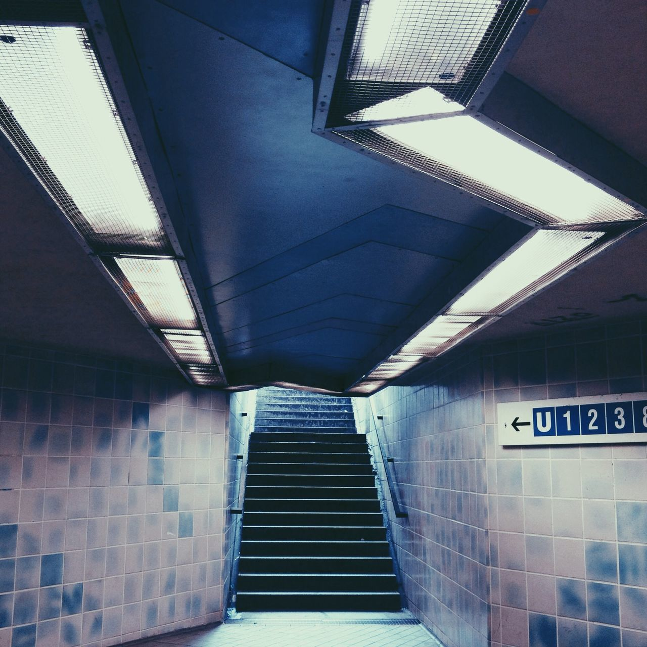 Staircase Of Underpass Walkway