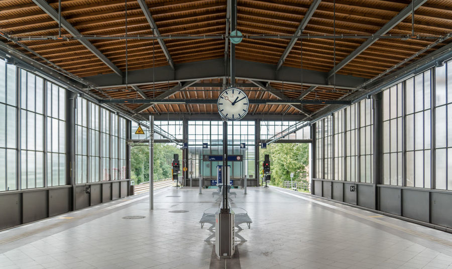 Architecture Berlin Photography Public Transportation Station Station Clock Transportation Architecture Built Structure Clock Day Indoors  No People Platform Public Transport Railway Station S-bahnhof Subway Station Symmetry Windows Mobility In Mega Cities