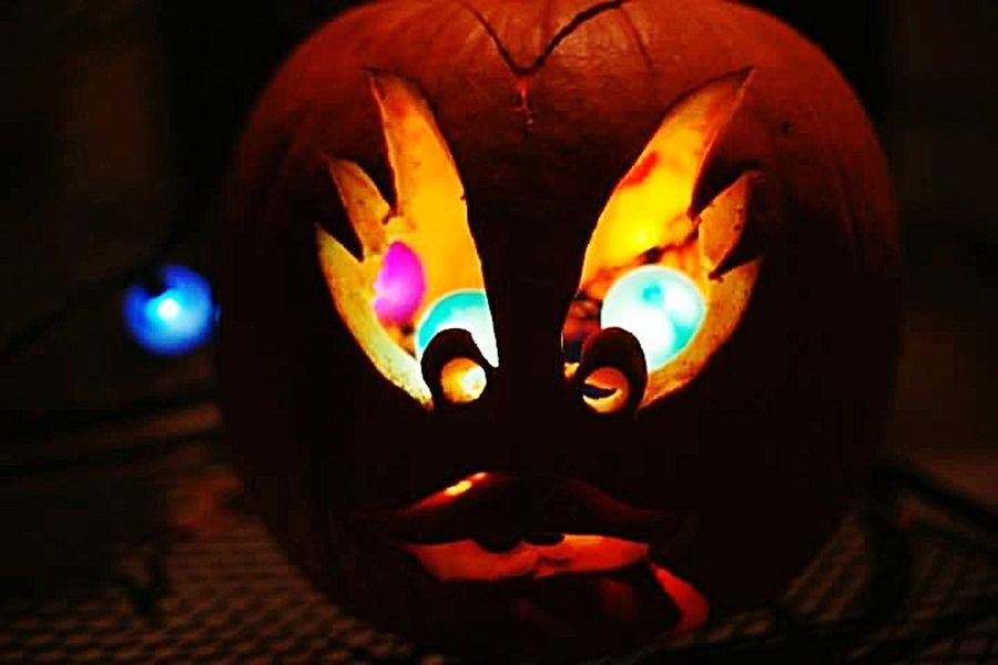 Paint The Town Yellow sculpted pumpkin Night Illuminated Perspectives Of Mind Neon Life Close-up Reggie Banks Sr Multimedia Journalist Blackberry Castle Photography Arts Culture And Entertainment Low Angle View The Week On EyeEm HUAWEI Photo Award: After Dark