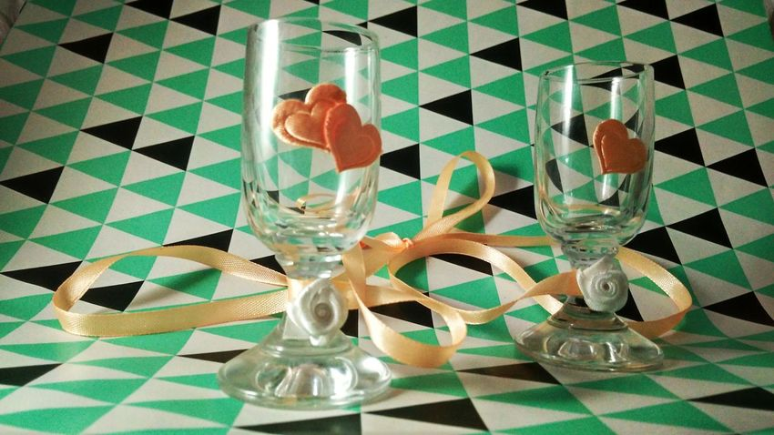 Indoors  No People Drinking Glass Close-up White Roses Colored Rose Pattern Colored Background Pink Color Pink Hearts♡hearts Wedding Favors Pink Hearts Shot Glass Collection Glasses :) Glasses👌 Heart Shaped  EyeEmNewHere Wedding Glass Glasses Shot Glasses The Week On EyeEm Background Hearts Heart Shape