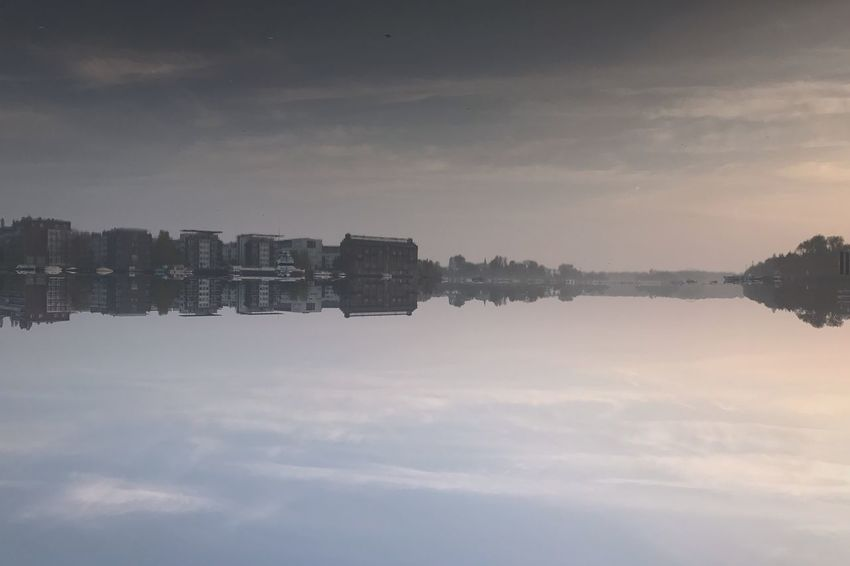 Architecture Building Exterior Sky Cloud - Sky Built Structure Outdoors Reflection City No People Skyscraper Cityscape Travel Destinations Day Nature Modern Water Sunday_flip 180° Mirrored Water Reflections Reflection